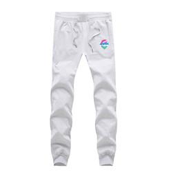 calças de golfinho rosa Desconto Letra impressa Pink Dolphin Calça Casual Men Loose Women Sweat Pants Hip Hop Esporte Calças Pink Dolphin Calças 3XL T08