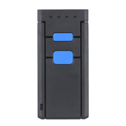 lettore dito Sconti Freeshipping Mini Wireless Bluetooth Scanner di codici a barre Scanner di codici a barre Lettore di codici a barre CCD Luce rossa senza fili portatile