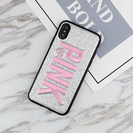 ROSA capa de design de moda brilho 3d bordado amor rosa phone case para iphone xs, iphone XR Xmas iPhone 8 para Samsung S9 S9 plus 9+ note8 de