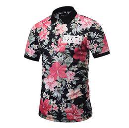 Camicia estiva stampata floreale Hawaii Vocation Fashion Camicie Uomo nuovo stile casual da