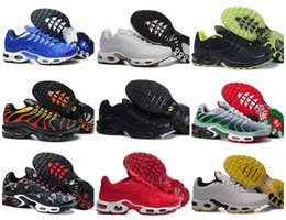 Wholesale Lace Tops Designs - VaporMax 2018 New Design Top Quality TN Mens TrAinErs shOes Breathable Mesh Chaussures Homme Tn REqUin Noir Casual RuNnING ShOes Size 7-12