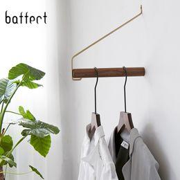 Деревянные настенные кронштейны для подвешивания вешалки для одежды для хранения одежды Гостиная / спальня Аксессуары Вешалки для хранения одежды Robe Hook от