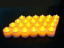 Wholesale Flameless Led Tea Light Blue - Creation Led Tea Lighting Candles 7Color Micro-Flashing Wedding Party Birthday Flameless Candle Christmas Home Decor DHL Ship TY7-126