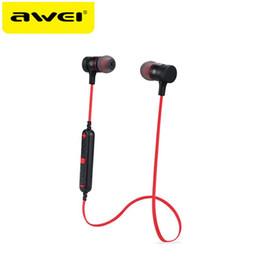 Awei CSR4.1 Auricolare Bluetooth Wireless Headphone Magnete Attrazione  Cuffie Smart Noise Annulla Sport Auricolare Stereo Auricolari Con Microfono 93f9837d078a