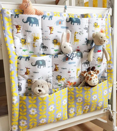 Wholesale Branded Bedding Sets - Wholesale- New brand baby bed crib rooms nursery hanging storage bags for home decorations organizer pocket closet bag organizadora