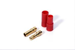 Золотые разъемы онлайн-10 пар RC разъем разъем HXT 3.5 мм пуля банан разъемы золотое покрытие и красный корпус для RC вертолетов