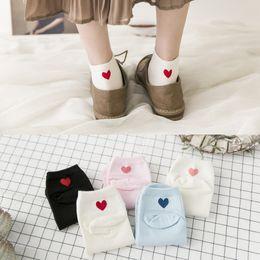 Koreasocken online-Spandex Frauen Socken 5 Pairs Baumwolle Damenmode Kurze Socken Frauen Breathbale Baumwollsocken Cute Korea Style Pink