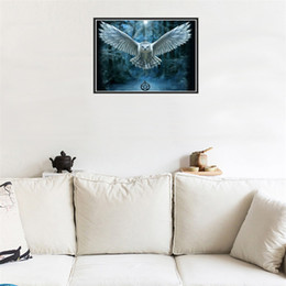 Wholesale Owl Canvas - Frameless Owl Cross Stitch Round Diamond Paintings Children Bedroom Living Room Decor Hot Sale 9 9tz C R