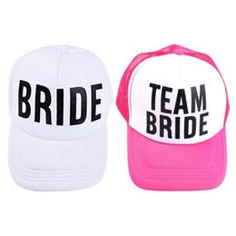 0cb5eaddf1f bridal cap hat Promo Codes - 2018 Hot Bride Baseball Hat Bridal Wedding  Party Trucker Cap