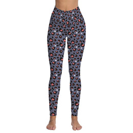 Wholesale leopard stretch pants - Women's Leopard Printed High Waist Yoga Pants Power Stretch Tummy Control Workout Leggings