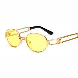 6ef1abe160a Hombres del metal Mujeres visión nocturna Gafas de sol redondas Drive  Yellow Lens Vintage Square Male Female Sun Glasses para hombres Alta  calidad rebajas ...