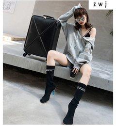 2019 кожаные сумки Роскошные женщины дорожная сумка мода тележки искусственная кожа Spinner посадка коробка чемоданы прокатки багажа дешево кожаные сумки