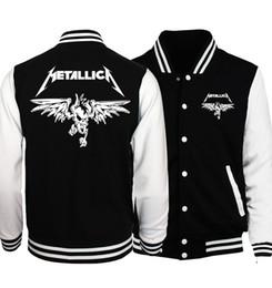 2018 Весна Горячие Продажа Рок-Группа Metallica Куртка Мужчины Пальто Мода Бейсбол Куртки Толстовки И Пиджаки Плюс Размер Битник Мужчины Пальто D18101106 cheap hoodies metallica от Поставщики толстовки металлики