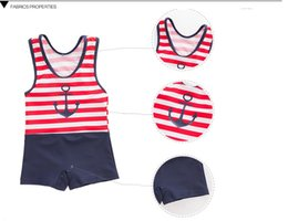 Wholesale Hot Children Bikini - Men 's one - piece swimsuit sailor children' s swimwear hot spring clothing