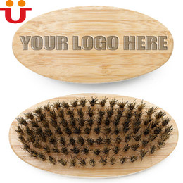 Wholesale Design Hair Combs - Free Design Your LOGO Customized Men Whiskers Beard Brush Sideburns Combs Bamboo Makeup Cleaning Brush Men Grooming tool Engraved LOGO