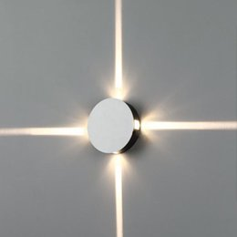 Lámparas de sofá online-Fuente de luz LED cruzada Lámpara de pared Pasillo Balcón Decoración Lámpara TV Sofá Luz de fondo Moderno Simple Luz de pared LED