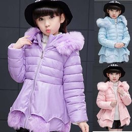 Wholesale Girls Coats Size 12 - New Baby Kids Girls Warm Faux Fur Hoodie Hooded Jacket Coat Snowsuits Outwear 3 Colour 5 Size