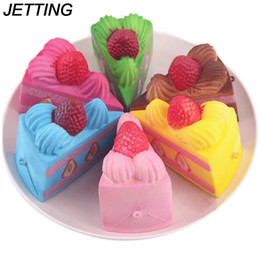 Wholesale toy jets - JETTING Squishy Slow Rising Strawberry Cake Jumbo Kawaii Phone Strap Bread Stretchy Fun Gift Cute Sweet Cream Scented Kids Toy