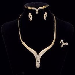 свадебные ювелирные изделия с шампанским Скидка GUOLANSE Preciosa Кристалл свадебные ювелирные наборы шампанское цвет ожерелье свадьба обручальное ювелирные наборы для женщин RE0091