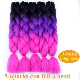 Wholesale Yaki Hair Prices - Cheap Price Ombre Braiding Hair braid 24inch High Temperature Fiber ombre braiding hair Extension yaki style thick synthetic hair bundles