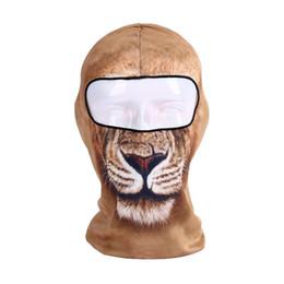 Wholesale novelty balaclava - Outdoor Motorcycle Sunscreen Full Face Mask Soft Breathable Men Women Balaclava 3D Cat Dog Animal Pattern Hat Fashion 9 8lf BB