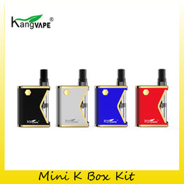 Mini caixas cerâmicas on-line-100% original kit kangvape mini k caixa de partida 400 mah vaporizador vaporizador vape mod para 510 thread 0.5 ml cartucho de cerâmica atomizador
