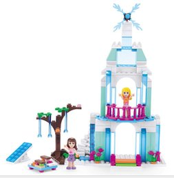 Wholesale princess blocks - Girl Princess Castle Building Villa Small particles Enlightenment Puzzle Assembled Building Blocks Toys 0452-0453