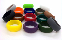Wholesale Holiday Band - Party Favor Silicone Wedding Ring Movement Couple's Round Rings sports ring Silicone Rubber Band 9mm camo solid color