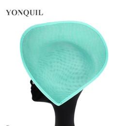 Argentina 2018 Nuevos colores 30 cm de gran imitación sinamay fascinator bases para sposa boda sombreros sombreros accesorios para el cabello 5 unids / lote SYB05 Suministro