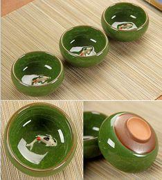 Wholesale Tea Cup China Wholesale - Tea Ceramic China Kung Fu Tea Sets Hot Chinese Tea Cups Porcelain Celadon Fish Teacup Drinkware Oolong Cups & Saucers