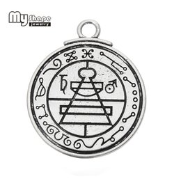 Wholesale metal shapes for jewelry making - my shape Antique Silver Plated Secret amulets and talismans Black Magic Pendant charms for jewelry making gothic jewelry