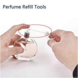 Parfüm nachfüllungen online-48 stücke Parfüm Refill Werkzeuge Parfüm Diffusor Trichter Kosmetisches Werkzeug Einfach Refill Pumpe für Probe Parfüm flasche