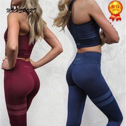 Wholesale Yoga Activewear - Athletic Activewear Sets Yoga Shirt Top Joga Pants High Waist Leggings Leggins Fitness Sport Suit Women Yoga Set Fitness Wear