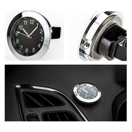 carro levou relógio tempo Desconto Auto Gauge Relógio de Pulso de Ar Do Ventilador de Ar de Quartzo com Clipe Auto Air Outlet Watch Car Styling