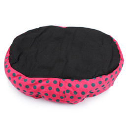 vendita all'ingrosso caldo inverno caldo cane letto morbido in pile Dot Design Pet Nest con rimovibile Pet Mat ottagono forma Kennel Cat Shopping libero da