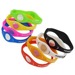 bracelet balance silicone énergie Promotion Charme Designer Power Energy Bracelet Pour Femmes Hommes Bracelets Sport Balance Ion Thérapie Magnétique Silicone Bracelets Fitness