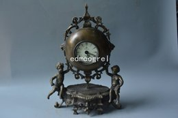 Angelo orologio online-Rare Old Qing Dynasty orologio reale \ orologio meccanico, orologio da tavolo, orologio da angelo occidentale, 1886, può funzionare, spedizione gratuita