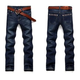 Wholesale Hot Sell Men Jeans - 2018 Mens jeans New Fashion Men Casual Jeans Slim Straight Feet Trousers hot sell