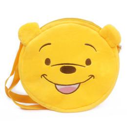 Argentina Zshop Yellow Bear Messenger Bag Saco de lona suave para niños de 1 a 3 años Kintergarden Single Shoulder cheap yellow messenger bag kids Suministro