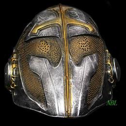 Wholesale Masquerade Mask Knight - The Movie Tempel Riddaren Fighting Man Full Face Masks Halloween Cosplay Props Masquerade Scary Knights Templar Resin Mask