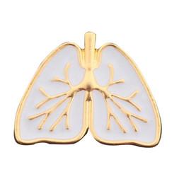 herzorgane Rabatt Emaille Pin medizinische Herz Broschen Pins Gold weiße Emaille Schmuck Kostenloser Versand anatomische Herz Brosche Anatomie menschlichen Organ