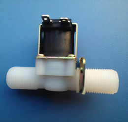 solenóide plástico de água Desconto Controle de válvula de água de aquecedor de água G1 / 2 Válvula de solenóide de válvula normalmente fechada de plástico eletromagnético normalmente aberto