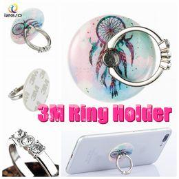 acryl steht für mobile Rabatt Acryl Finger Ring Halter Universal 360 Grad-Drehung Real 3M Kleber Flexible Handy Stände mit Bling Diamond Strass für alle Mobile