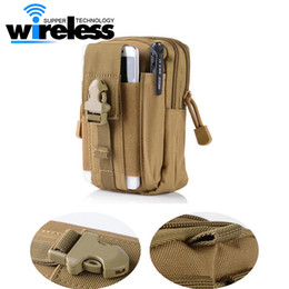 Wholesale Molle Pouch Bag - 5.5'Universal Outdoor Tactical Holster Military Molle Hip Waist Belt Bag Wallet Pouch Purse Phone Case with Zipper for iPhone Samsung
