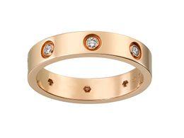 Vs diamantes on-line-2017 Moda de Nova Estilo 18 K Rose Gold Anel de Amor Com Diamante Com Caixa Original Para As Mulheres Presente Prfect CR0030 (0.30ct VS G 5g)