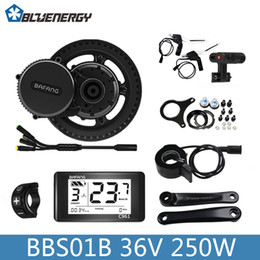 Wholesale Bicycle Motors - Free Tools 2018 Bafang 8fun BBS01B BBS01 36V 250W Electric Bicycle Kit Mid Crank Motor with Color C961 Display for Electric Bikes