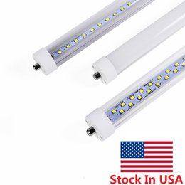 Wholesale Cree Lighting Stock - Milky Cover 8ft led t8 tubes T8 Single Pin FA8 LED Tubes Light 45W 72W High Lumens AC 85-265V Stock In US