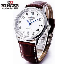 2019 старинные большие часы Бингер мода водонепроницаемый мужские большие цифровые часы кожаный ремешок механические часы старинные автоматические наручные часы бизнес простой скидка старинные большие часы