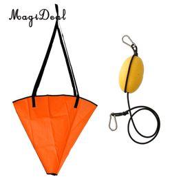 2019 vedere calzini MagiDeal Large 32 'Orange PVC Sea Anchor Drogue Drift Chute Sock per imbarcazioni fino a 20' / 6m + 29 'Kayak Tow Rope Throw Line sconti vedere calzini
