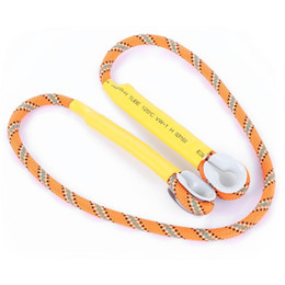 Wholesale Rock Lanyards - 8MM Outdoor Activities Nylon Rock Climbing Rope Anti falling Protective Lanyard slings Rescue Equipment for Rock climbing